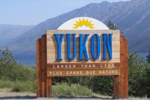 Yukon Border Sign on Klondike Highway